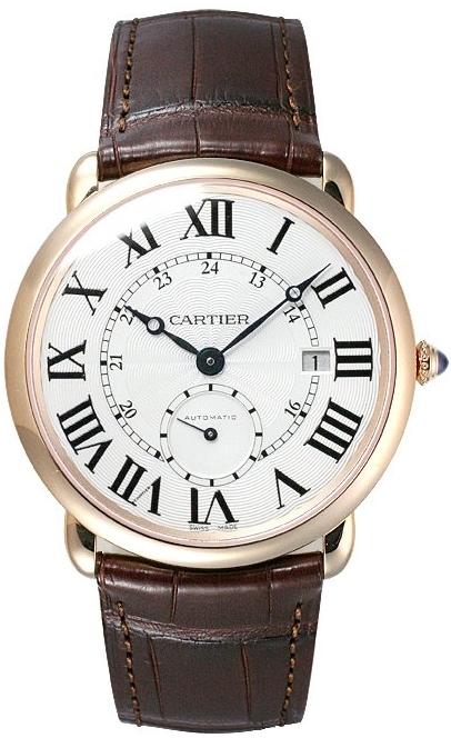 Cartier Ronde Herrklocka W6801005 Silverfärgad/Läder Ø40 mm - Cartier
