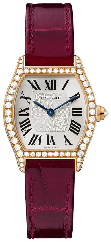 Cartier Tortue Damklocka WA501006 Silverfärgad/Läder - Cartier
