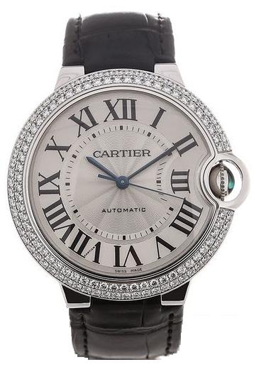 Cartier Ballon Blue Herrklocka WE902056 Silverfärgad/Läder Ø40 mm - Cartier
