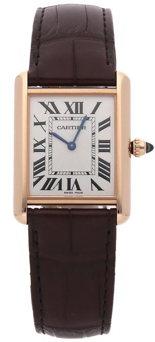 Cartier Tank Louis Damklocka WGTA0011 Silverfärgad/Läder - Cartier