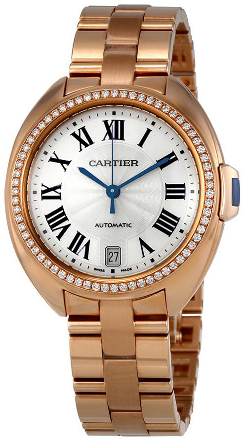 Cartier Cle De Cartier Damklocka WJCL0006 Silverfärgad/18 karat roséguld - Cartier