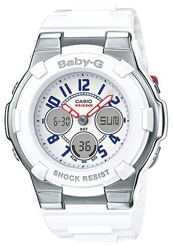 Casio Baby-G Damklocka BGA-110TR-7BER Vit/Resinplast Ø39.8 mm - Casio