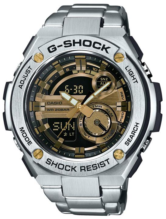 Casio G-Shock Herrklocka GST-210D-9AER Flerfärgad/Stål Ø52 mm - Casio