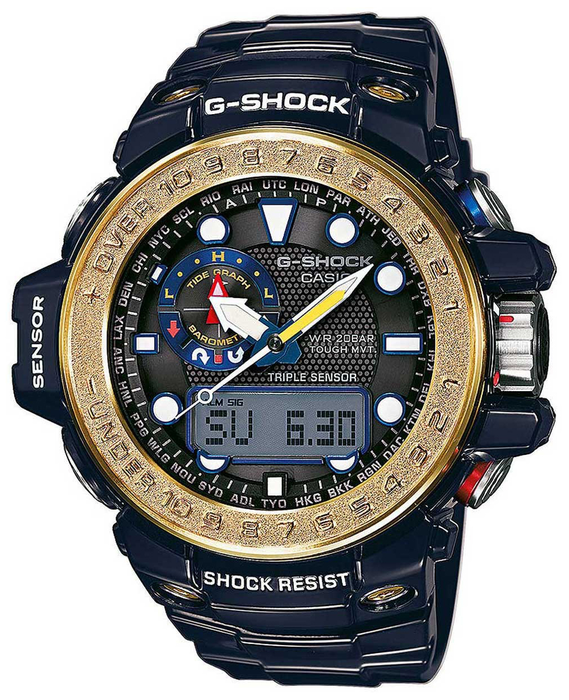 Casio G-Shock Herrklocka GWN-1000F-2AER Svart/Resinplast Ø47 mm - Casio
