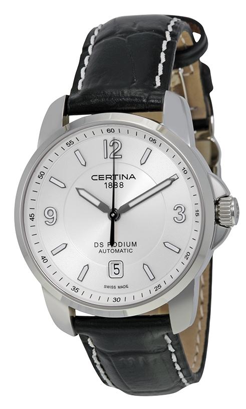 Certina DS Podium Herrklocka C001.407.16.037.00 Silverfärgad/Läder Ø38 - Certina