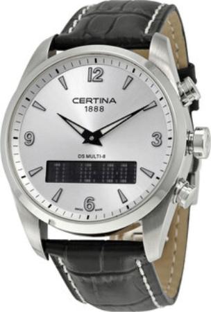 Certina DS Multi-8 Herrklocka C020.419.16.037.00 Silverfärgad/Läder Ø42 - Certina