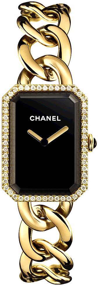 Chanel Premiere Damklocka H3259 Svart/18 karat gult guld 20x28 mm - Chanel