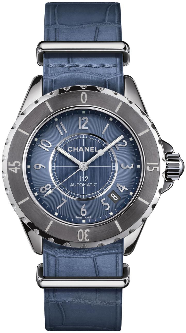 Chanel J12 Damklocka H4338 Blå/Stål Ø38 mm - Chanel