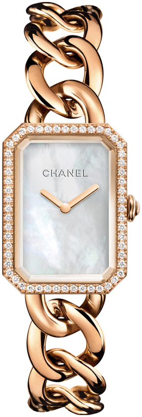 Chanel Premiere Damklocka H4412 Vit/18 karat roséguld - Chanel