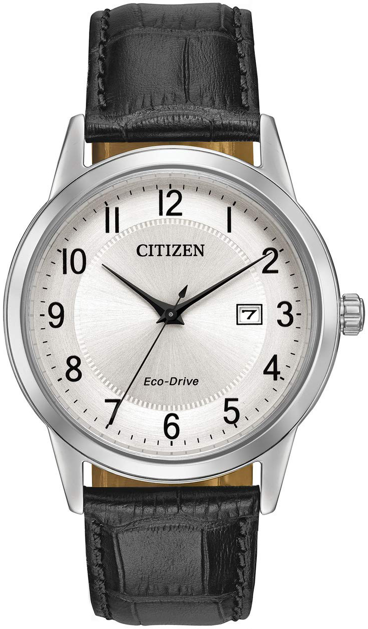 Citizen Dress Herrklocka AW1231-07A Vit/Läder Ø43 mm - Citizen