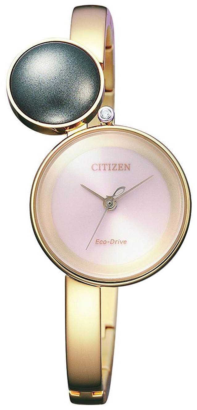 Citizen Dress Damklocka EW5493-51W Rosa/Gulguldtonat stål Ø24 mm - Citizen