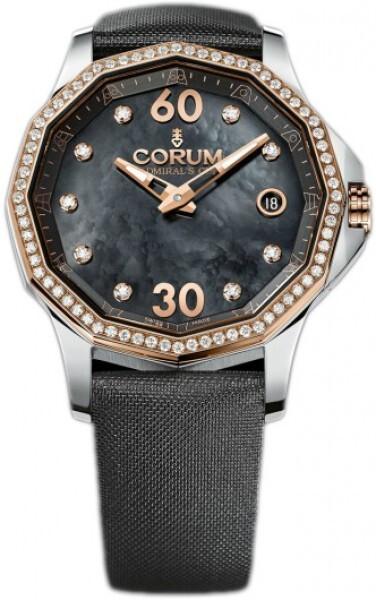 Corum Admirals Cup Legend 38 Damklocka 082.101.29-0F41 PN10 Vit/Textil - Corum