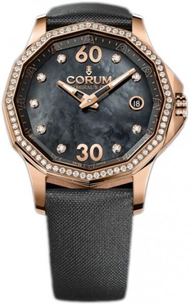 Corum Admirals Cup Legend 38 Damklocka 082.101.85-0041 PN10 Vit/Textil - Corum