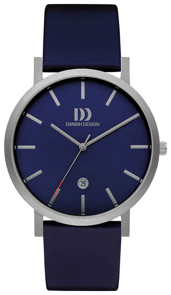 Danish Design Dress Herrklocka IQ22Q1108 Blå/Läder Ø40 mm - Danish Design