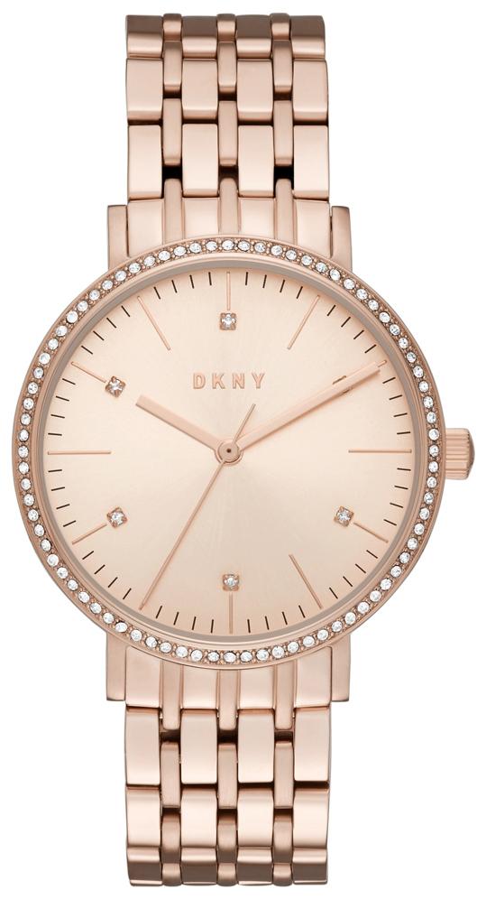 DKNY Dress Damklocka NY2608 Roséguldstonad/Roséguldstonat stål Ø34 mm - DKNY