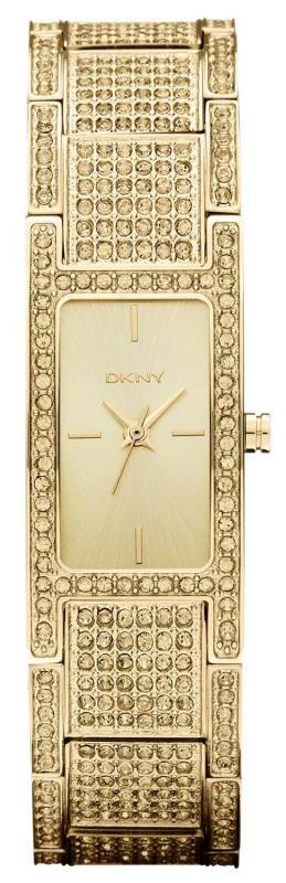 DKNY Crystal Damklocka NY8687 Gulguldstonad/Gulguldtonat stål - DKNY