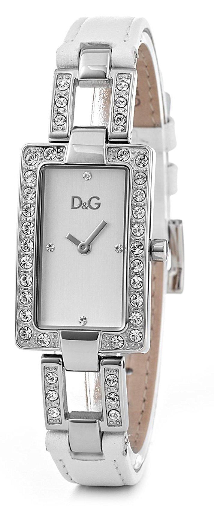 Dolce & Gabbana D&G Chamonix Damklocka DW0558 Silverfärgad/Läder - Dolce & Gabbana D&G