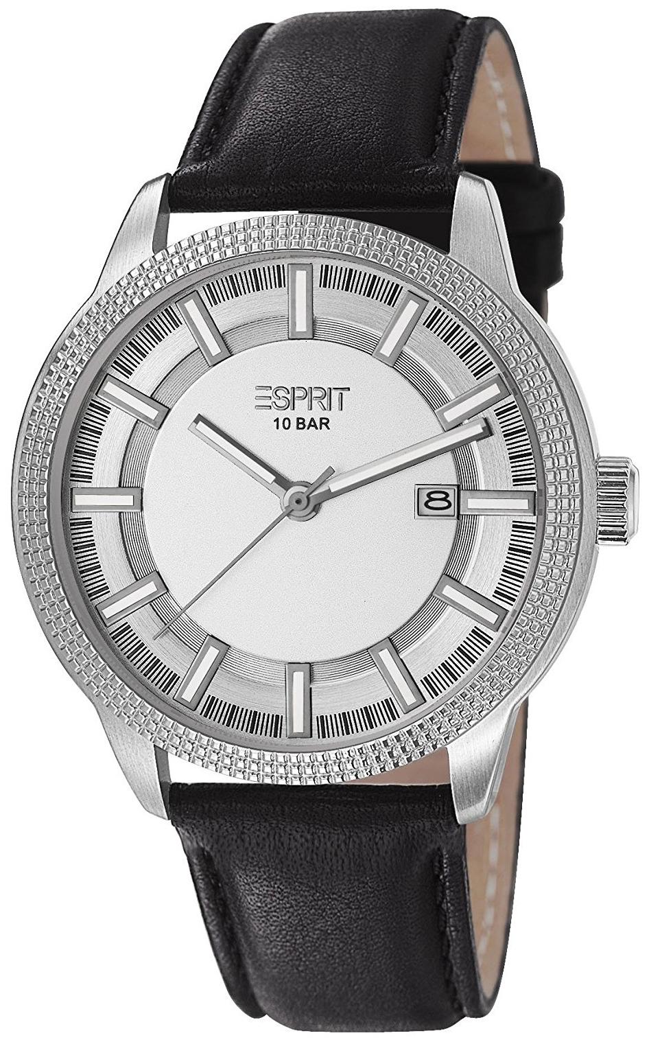 Esprit Dress Herrklocka ES106361002 Silverfärgad/Läder Ø44 mm - Esprit