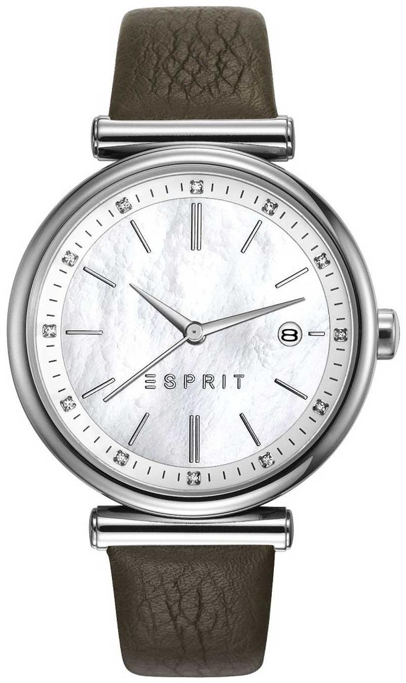 Esprit Dress Damklocka ES108542002 Vit/Läder Ø36 mm - Esprit