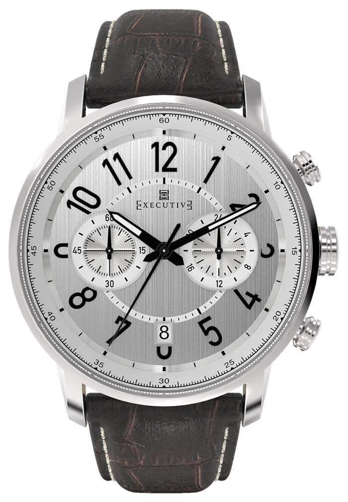 Executive Mackintosh Herrklocka EX-1007-02 Silverfärgad/Läder Ø42 mm - Executive
