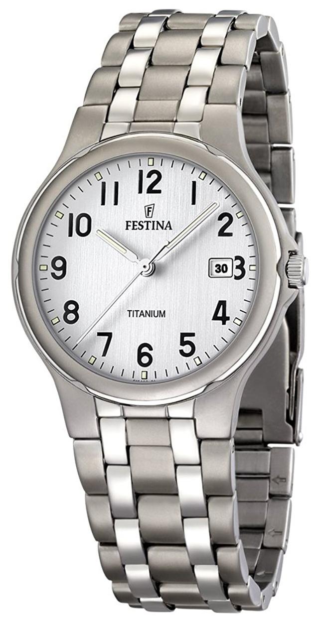 Festina Herrklocka F16460-1 Silverfärgad/Titan Ø38 mm - Festina