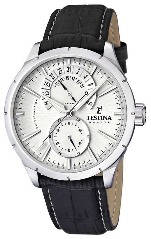 Festina Dress Herrklocka F16573-1 Silverfärgad/Läder Ø46 mm - Festina
