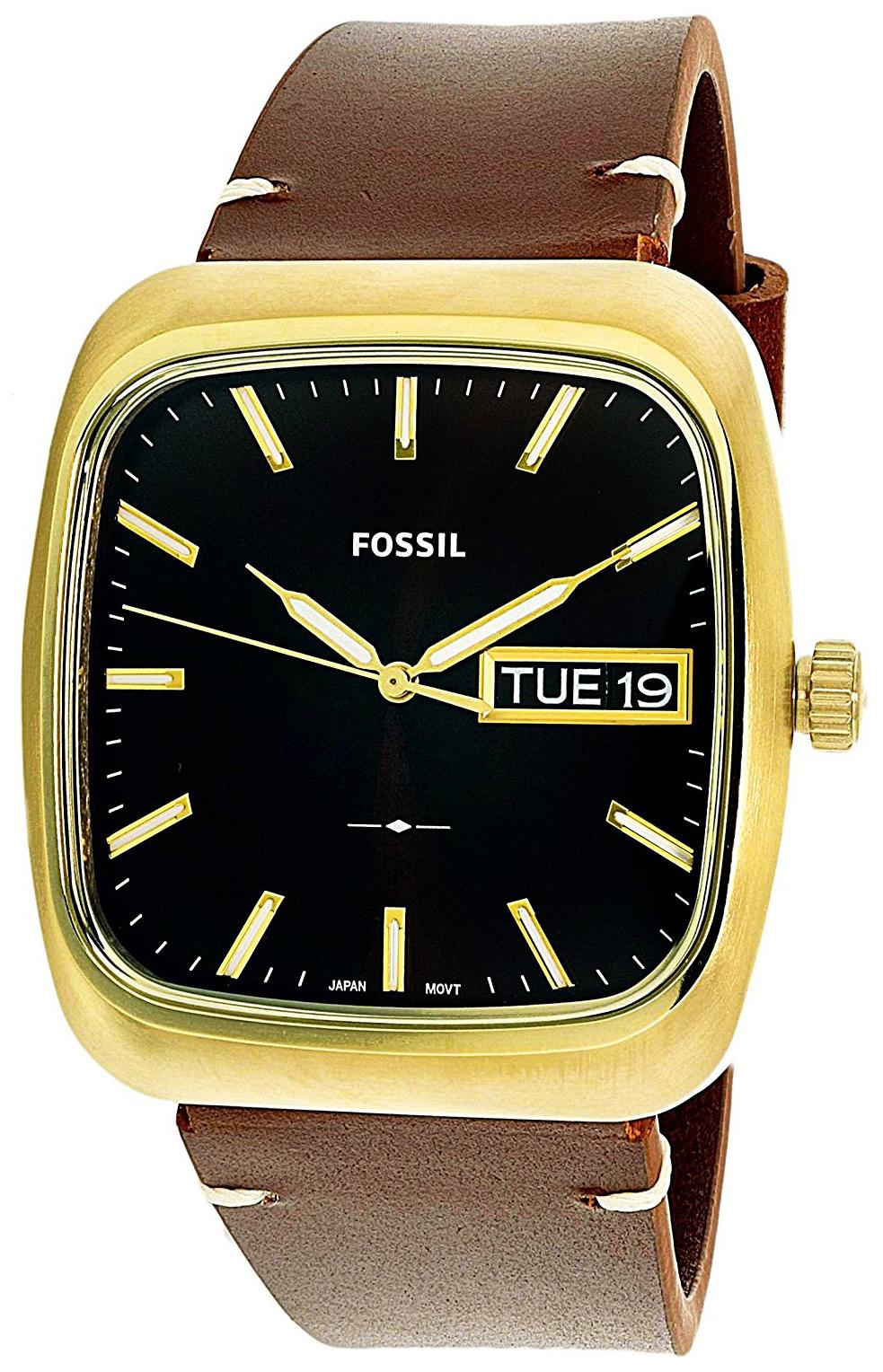 Fossil 99999 Herrklocka FS5332 Svart/Läder - Fossil