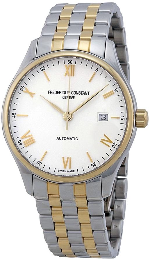 Frederique Constant Classics Herrklocka FC-303WN5B3B Vit/Gulguldtonat - Frederique Constant