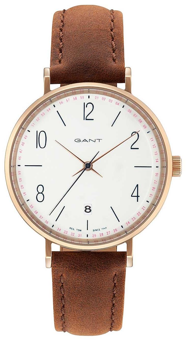 Gant 99999 Damklocka GT035005 Vit/Läder Ø36 mm - Gant