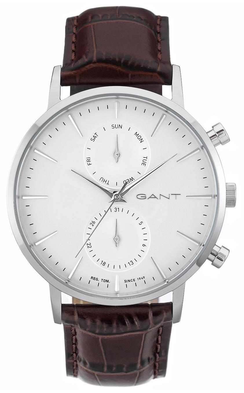 Gant 99999 Herrklocka W11201 Vit/Läder Ø44 mm - Gant