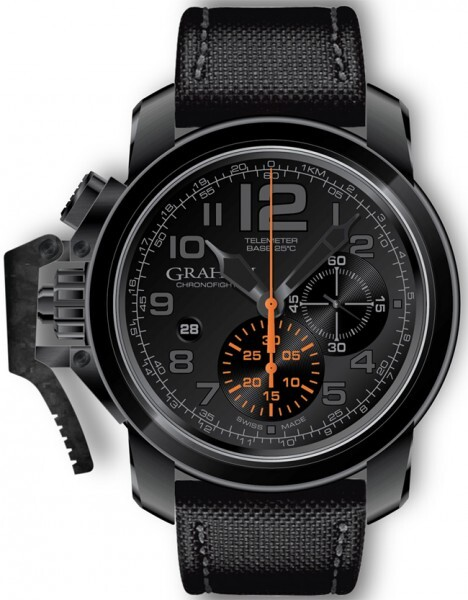 Graham Chronofighter Oversize Herrklocka 2CCAU.B01A Svart/Textil Ø47 mm - Graham