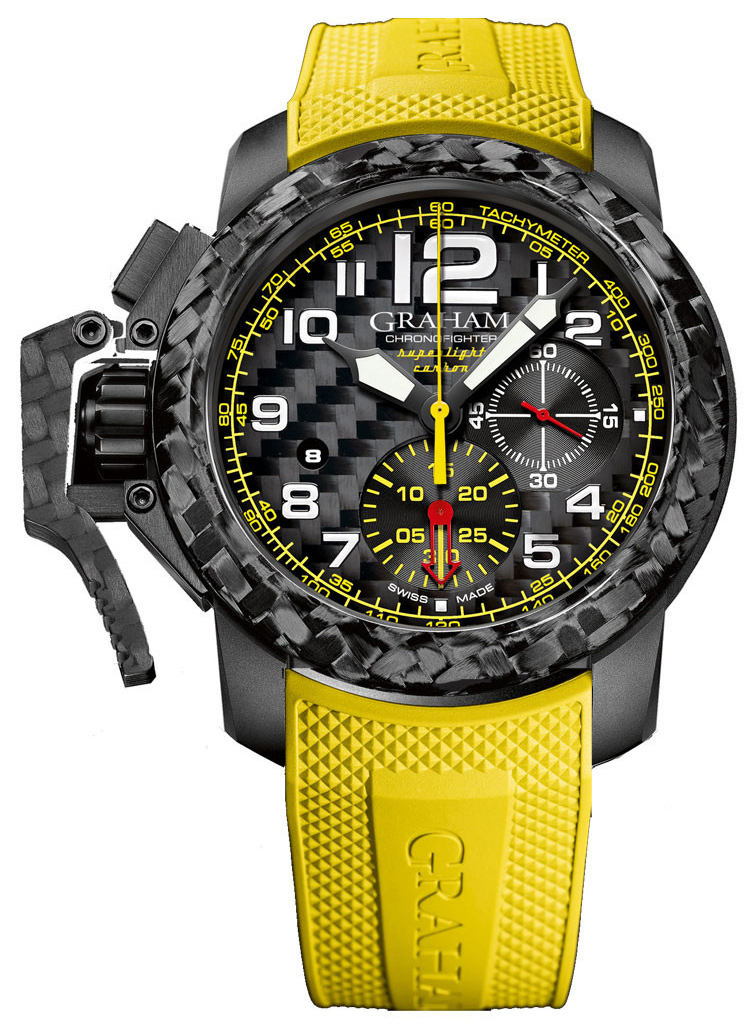 Graham Chronofighter Herrklocka 2CCBK.B15A Svart/Gummi Ø47 mm - Graham