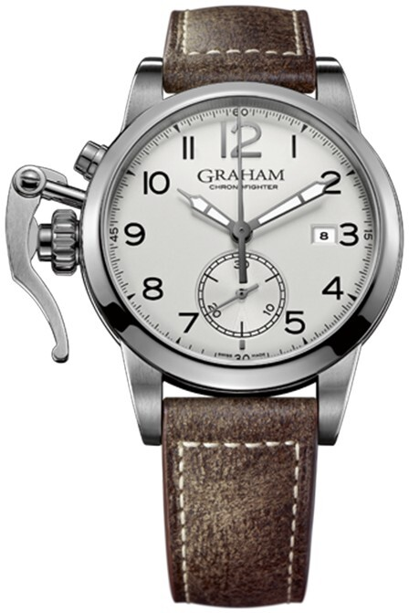 Graham Chronofighter Herrklocka 2CXAS.S01A Silverfärgad/Läder Ø42 mm - Graham
