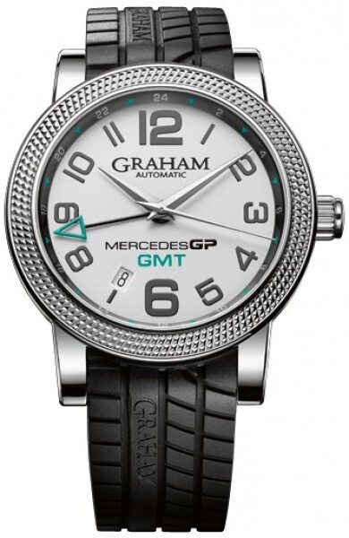 Graham Mercedes GP Time Zone Herrklocka 2MECS.S03A Silverfärgad/Gummi - Graham
