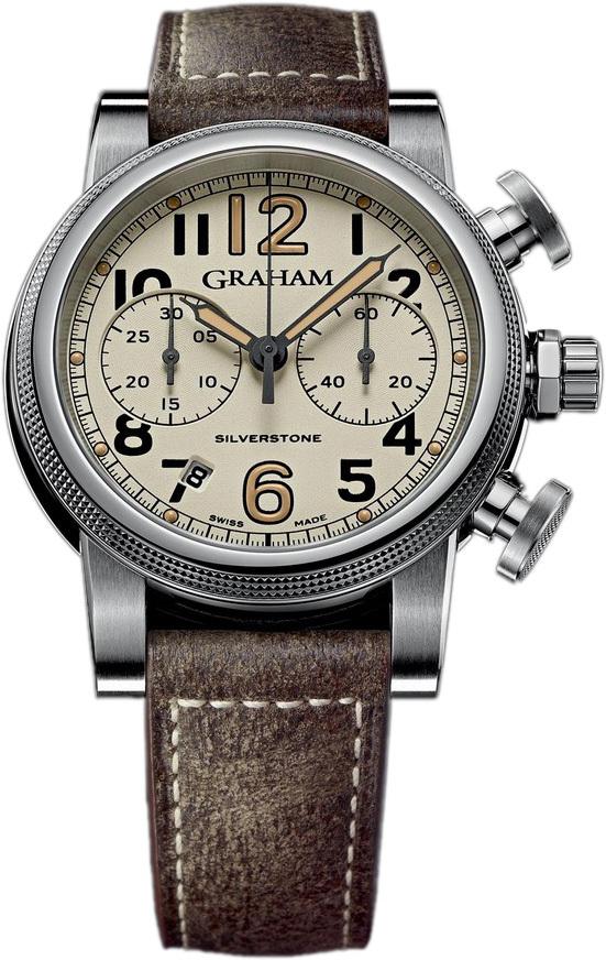 Graham Silverstone Herrklocka 2SABS.W01A Brun/Läder Ø44 mm - Graham