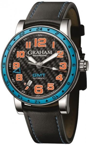 Graham Silverstone Time Zone Herrklocka 2TZAS.B01A Svart/Läder Ø42 mm - Graham