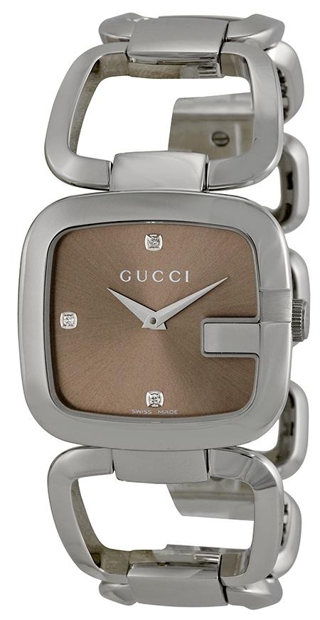 Gucci G Gucci Damklocka YA125401 Brun/Stål - Gucci