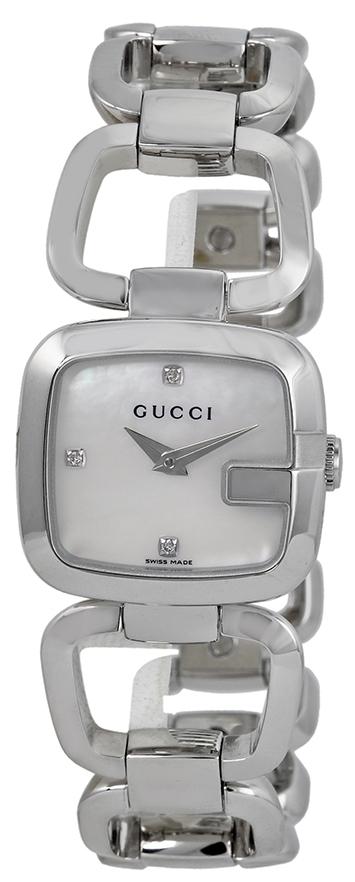 Gucci G Gucci Damklocka YA125502 Vit/Stål - Gucci