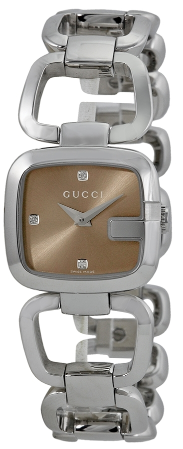 Gucci G Gucci Damklocka YA125503 Brun/Stål - Gucci