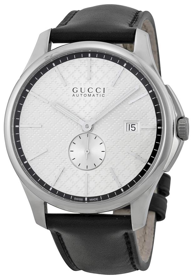Gucci G-Timeless Herrklocka YA126313 Silverfärgad/Läder Ø40 mm - Gucci