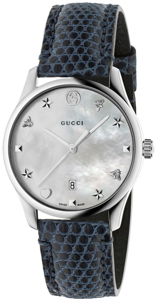 Gucci G-Timeless YA1264049 Vit/Läder Ø36 mm - Gucci