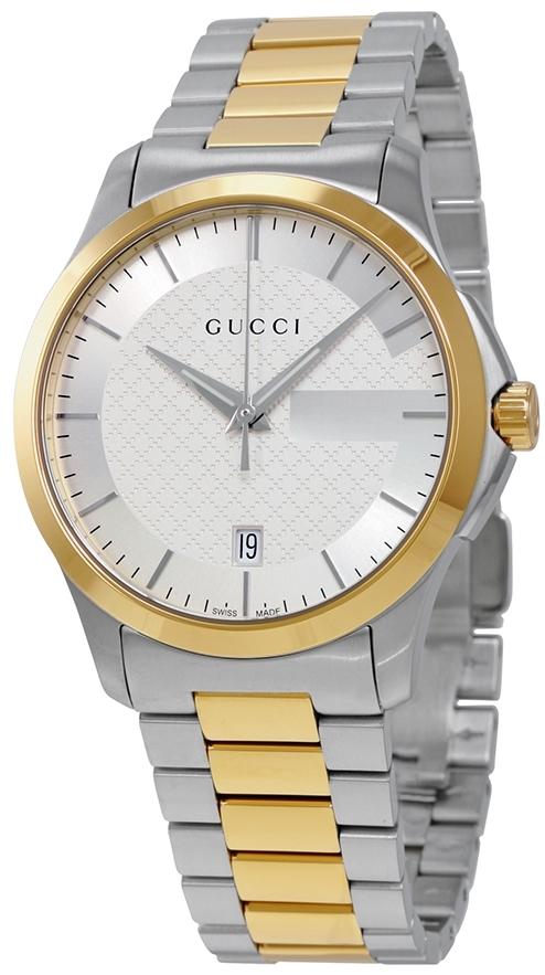 Gucci G-Timeless Herrklocka YA126450 Silverfärgad/Gulguldtonat stål Ø38 - Gucci