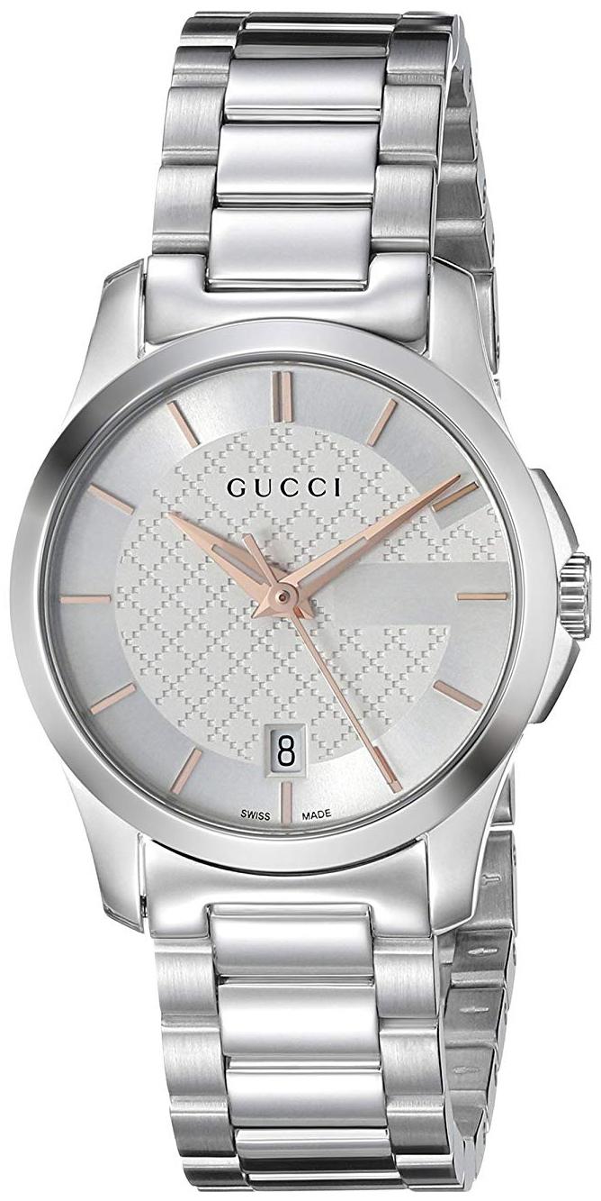 Gucci G-Timeless Damklocka YA126523 Silverfärgad/Stål Ø27 mm - Gucci