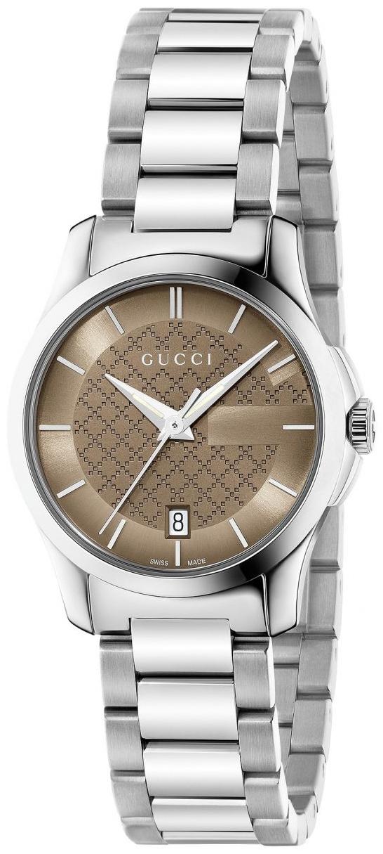 Gucci G-Timeless Damklocka YA126526 Brun/Stål Ø27 mm - Gucci