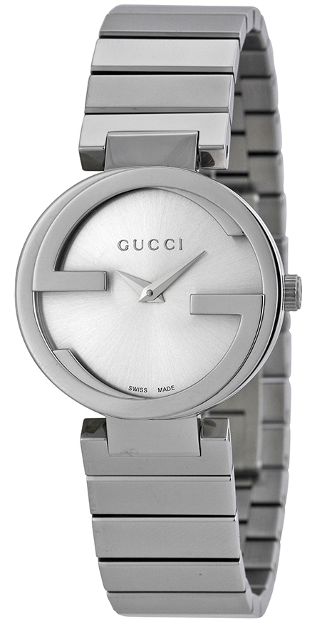 Gucci Interlocking Damklocka YA133503 Silverfärgad/Stål Ø29 mm - Gucci