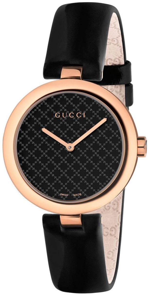 Gucci 99999 Damklocka YA141401 Svart/Läder Ø32 mm - Gucci