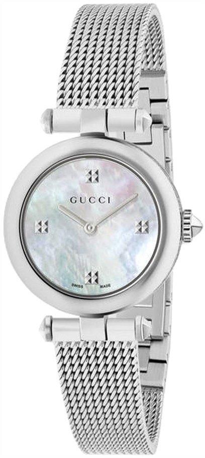 Gucci Diamantissima Damklocka YA141504 Vit/Stål Ø27 mm - Gucci