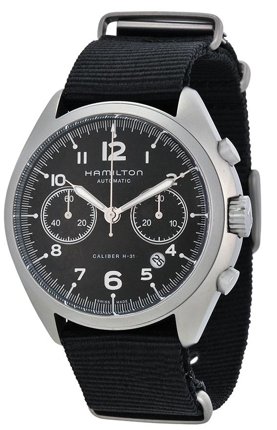 Hamilton Khaki Herrklocka H76456435 Svart/Textil Ø42 mm - Hamilton