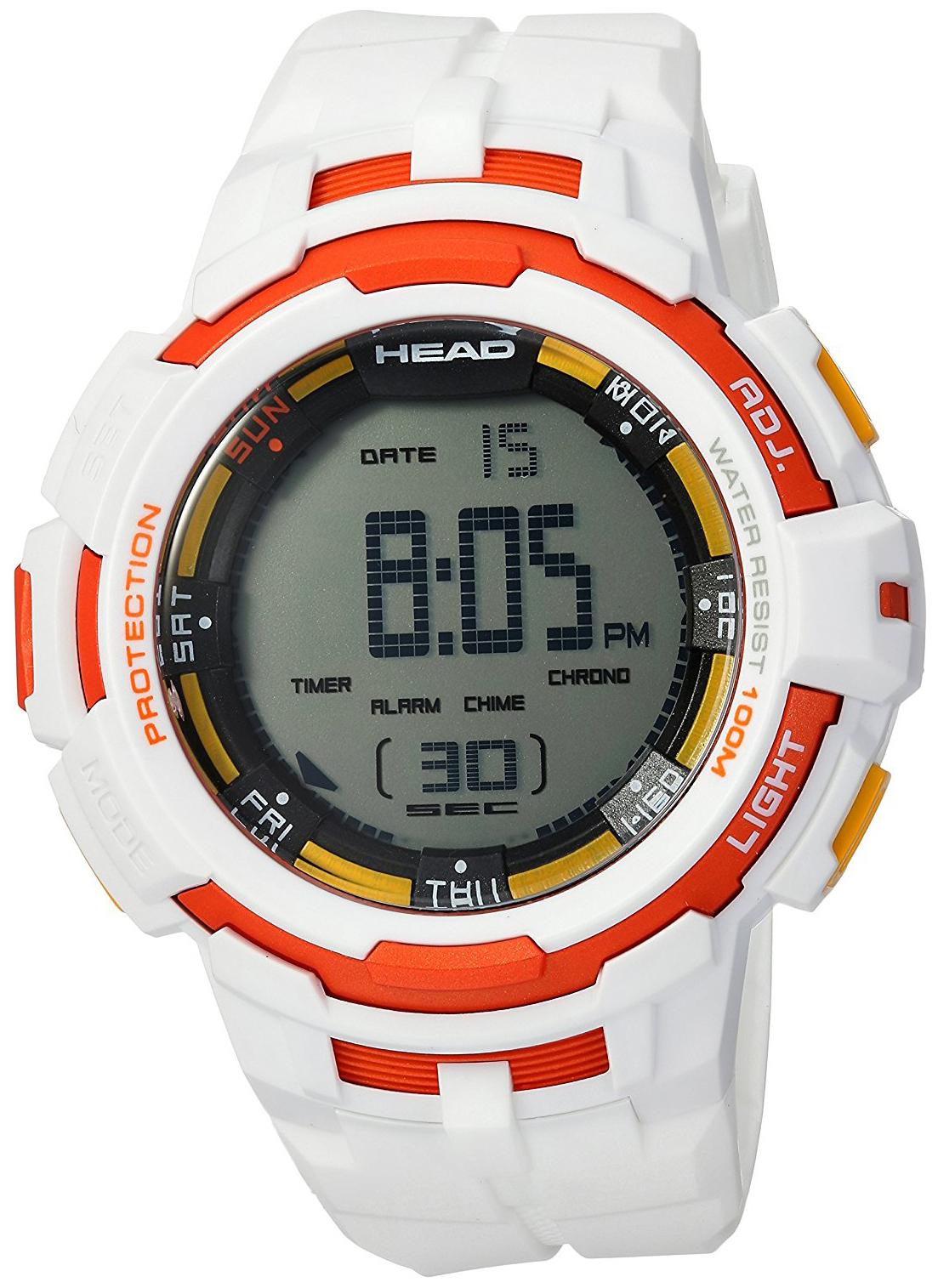 HEAD Super G Herrklocka HE-104-01 LCD/Gummi Ø52 mm - HEAD