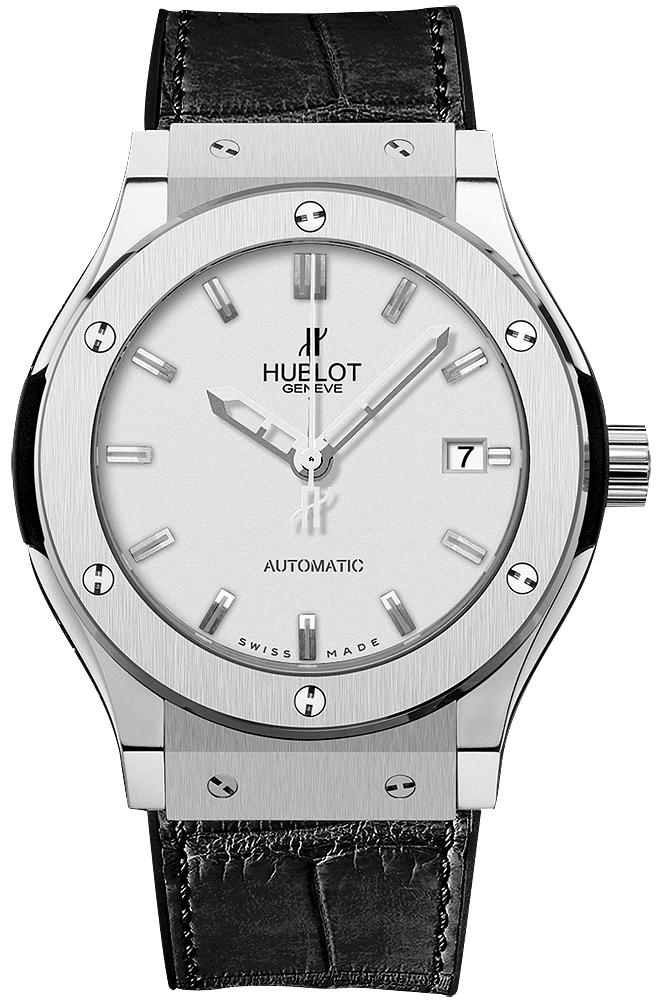 Hublot Classic Fusion Herrklocka 542.NX.2610.LR Silverfärgad/Läder Ø42 - Hublot